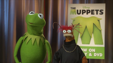 boom interviews Kermit and Pepe about their new film, The Muppets